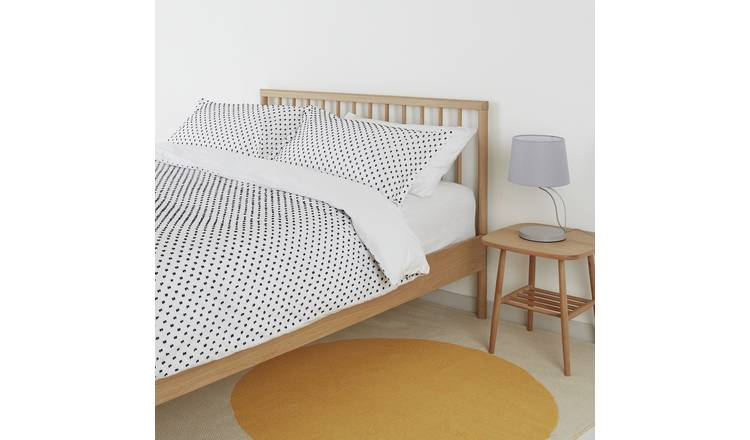 Habitat Camila White & Black Spot Cotton Bedding Set- Double