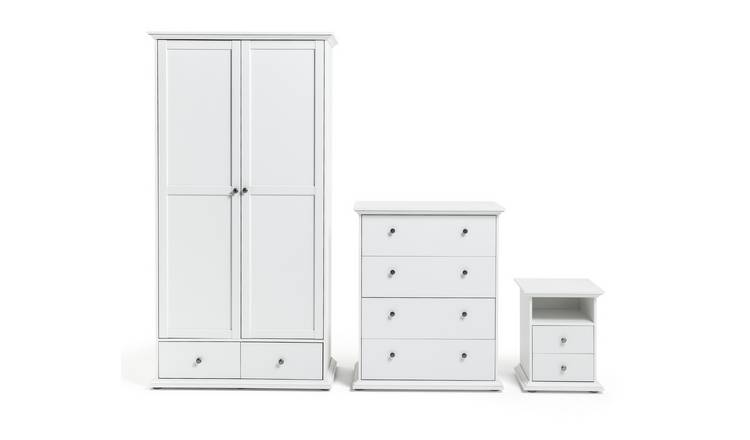 Habitat Heathland 3 Pc 2 Door 2 Drw Wardrobe Set - White