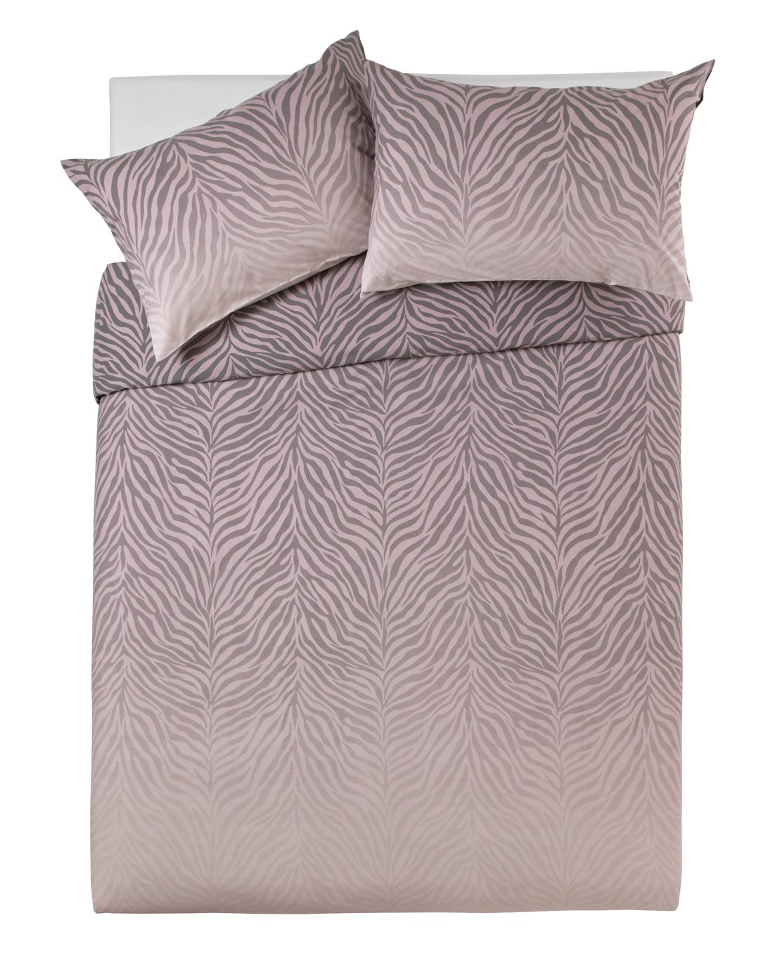 Argos Home Blush Zebra Ombre Bedding Set - Double