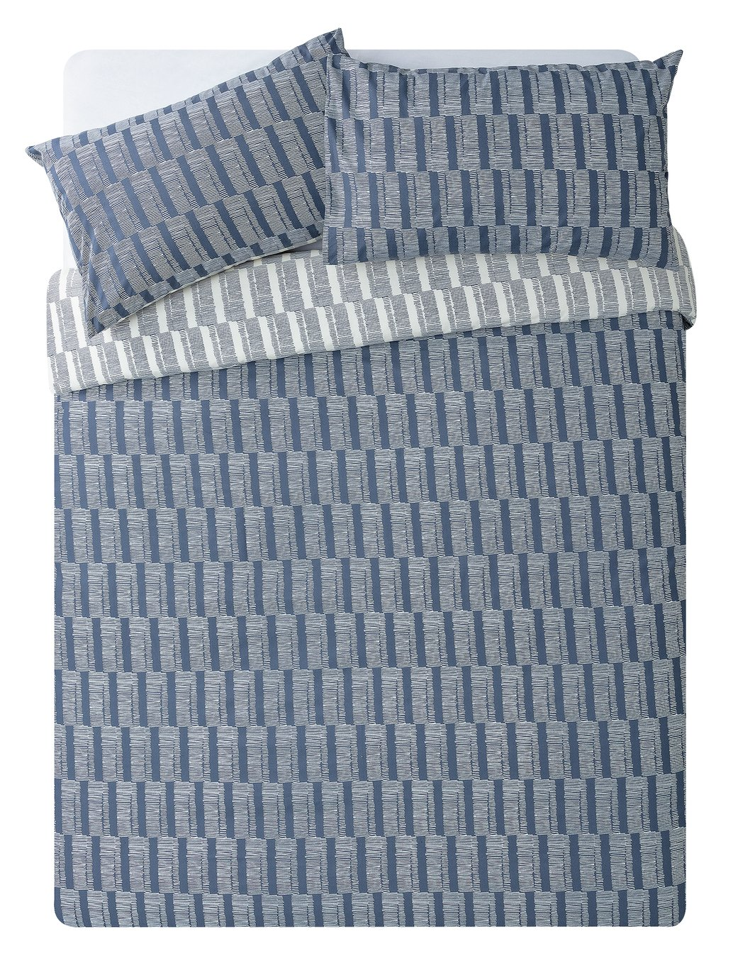 Argos Home Blue Sticks Bedding Set - Double