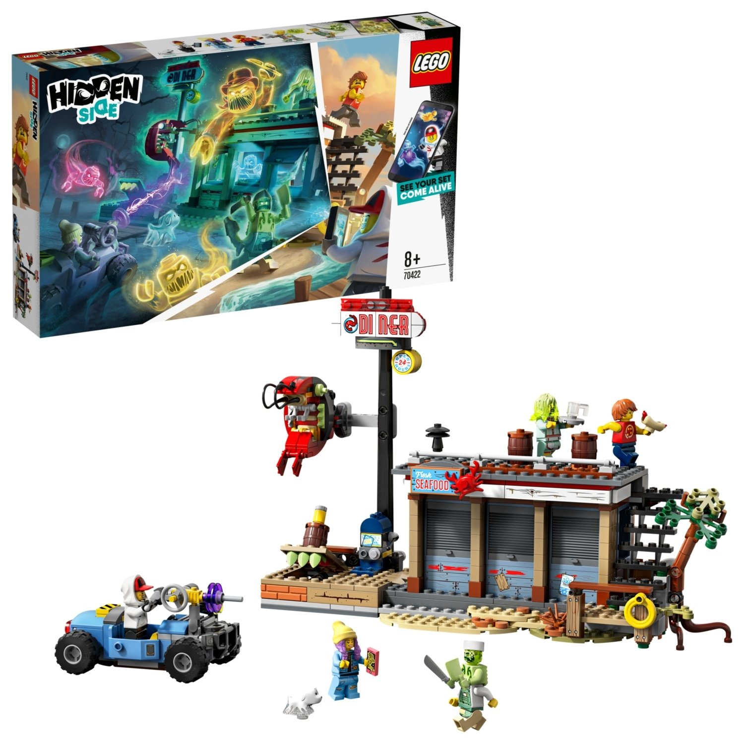 LEGO Hidden Side Shrimp Shack Attack AR Lego Games Set 70422