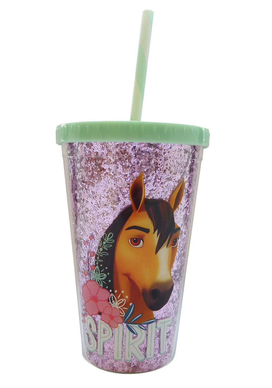 Spirit Glitter Plastic Drink Cup