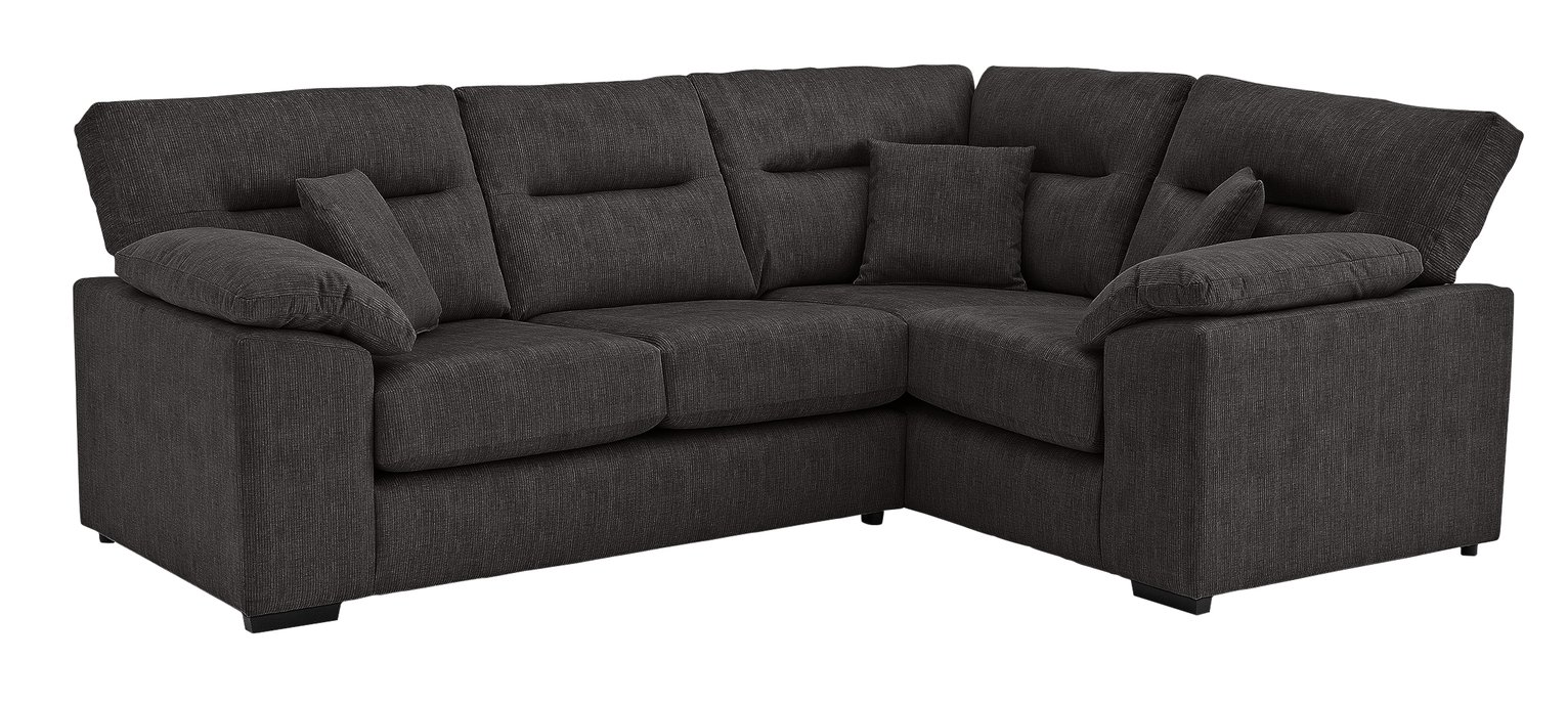 Argos Home Donavan Right Corner Fabric Sofa - Charcoal