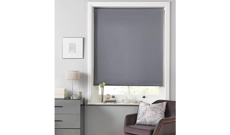 Buy Argos Home Sparkle Blackout Roller Blind 3ft Grey
