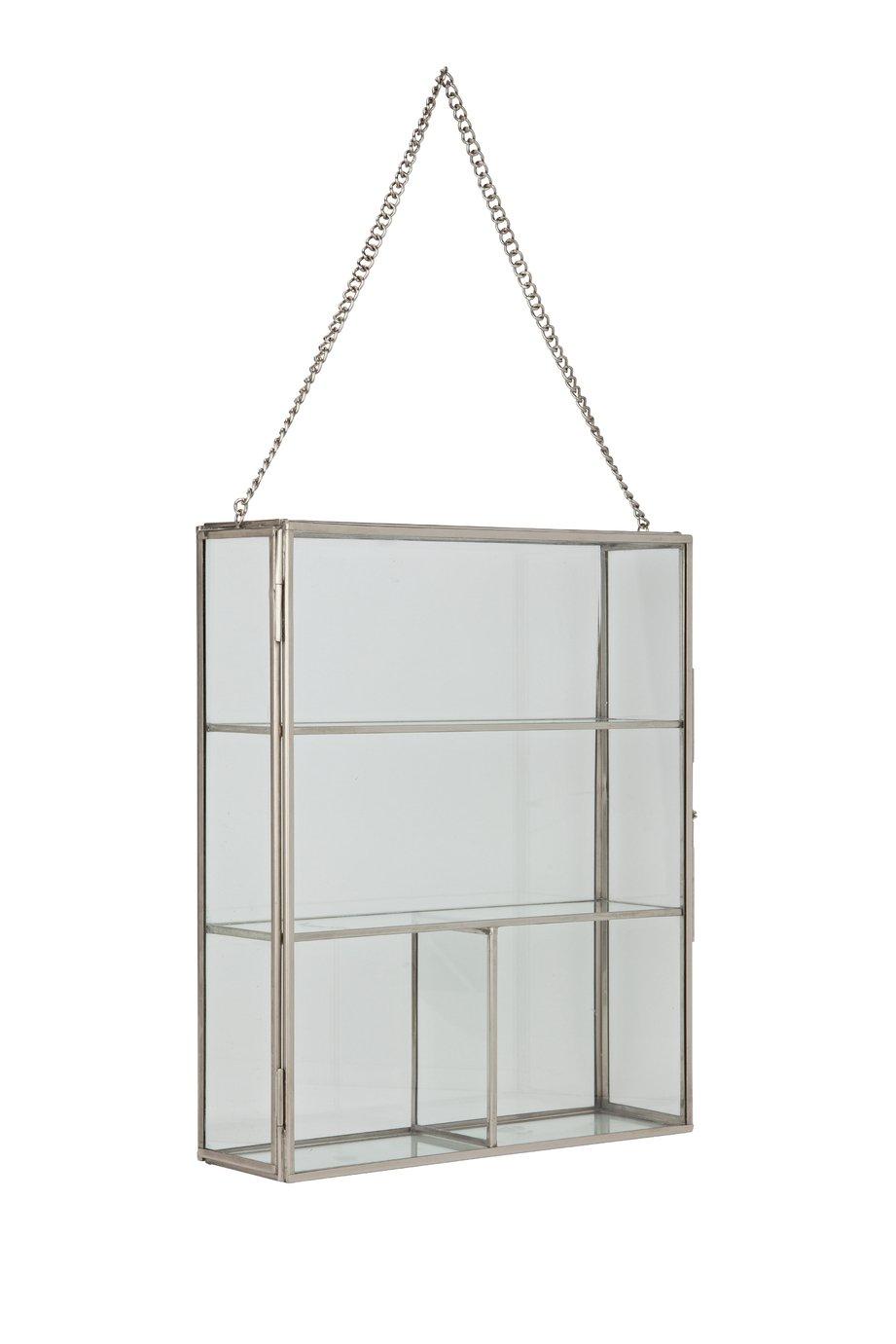Argos Home Glass Shelving Unit - Brass