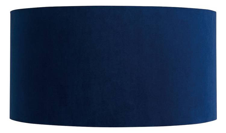 Habitat French Velvet 35cm Shade - Navy