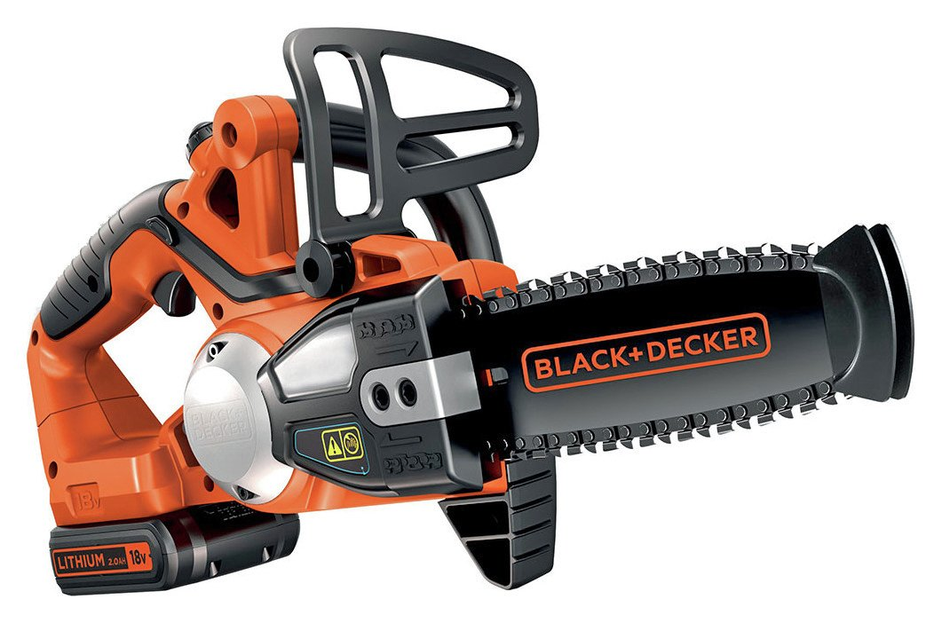 Black + Decker 20cm Cordless Chainsaw - 18V