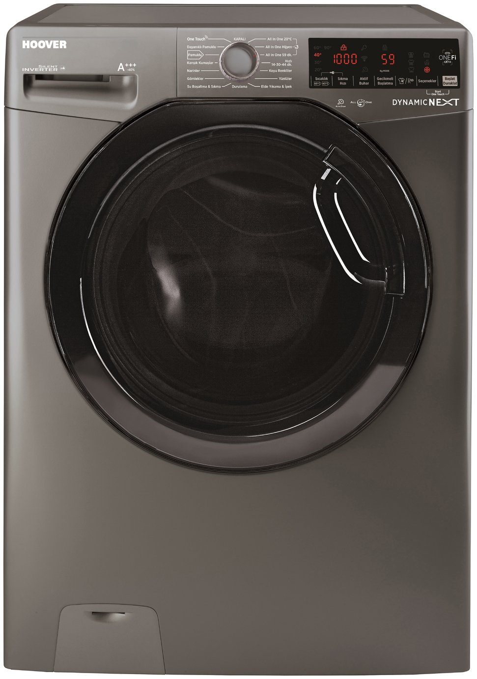 Hoover DWOAD610HF3G 10KG 1600 Spin Washing Machine -Graphite