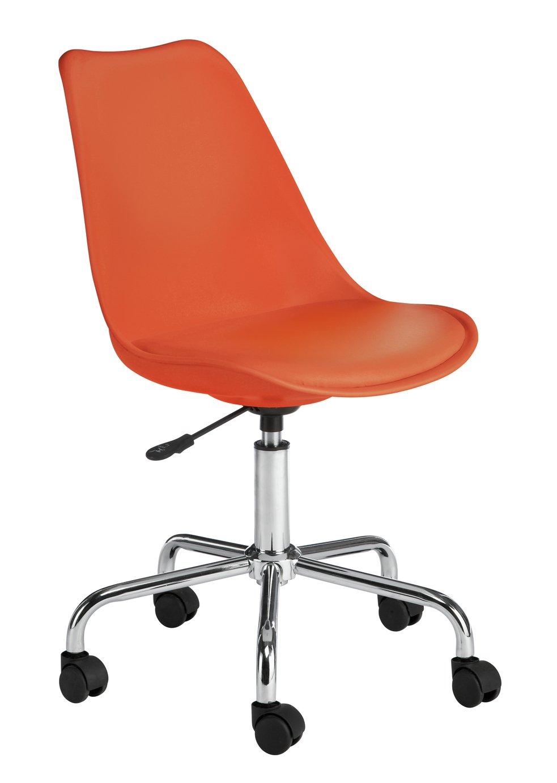 Habitat Ginnie Office Chair - Orange