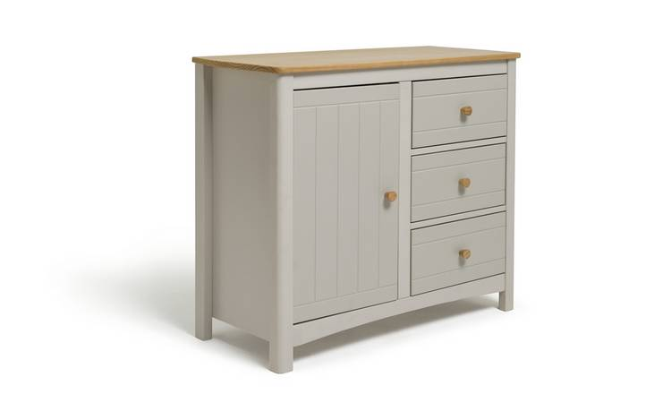 Habitat Bournemouth 1 Door 3 Drawer Sideboard -Light Grey