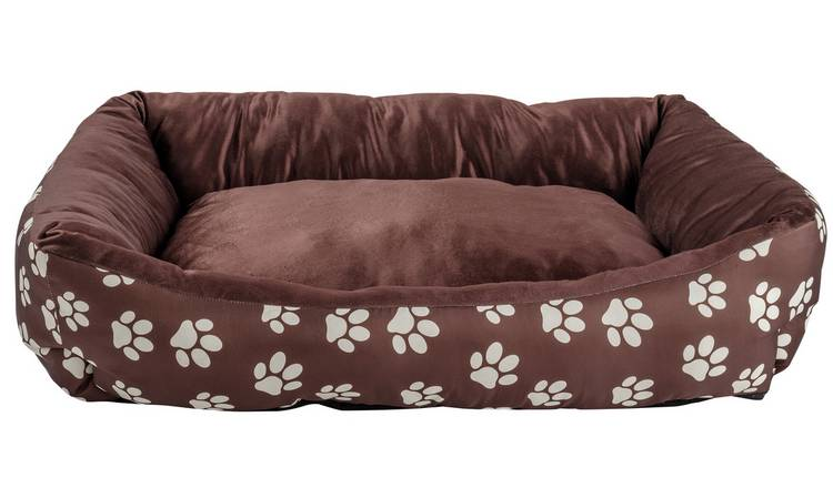Paw Print Square Pet Bed - Large