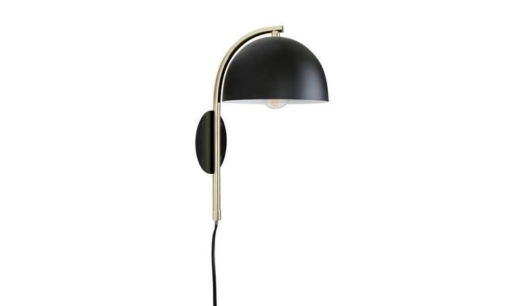 Habitat Ivar Wall Light - Brass & Black
