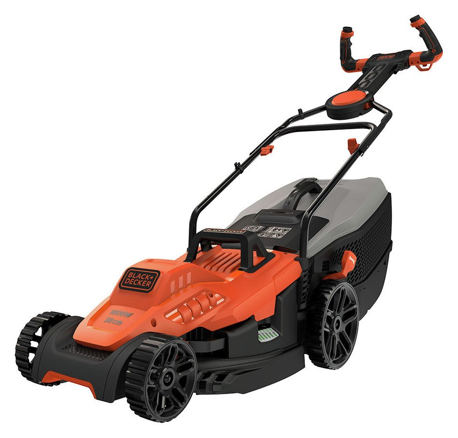 Black + Decker 38cm Corded Lawnmower with EasySteer - 1600W