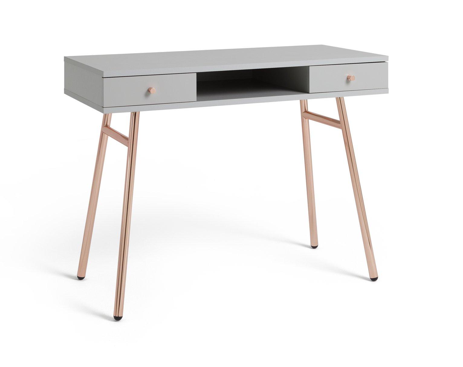 Argos Home Valence Desk - Rose Gold