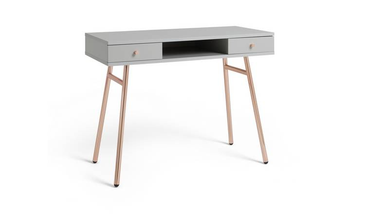 Habitat Valence Office Desk - Rose Gold