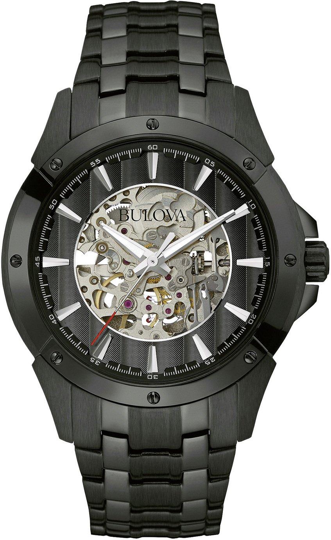 Bulova Men's Black Stainless Steel Bracelet Watch