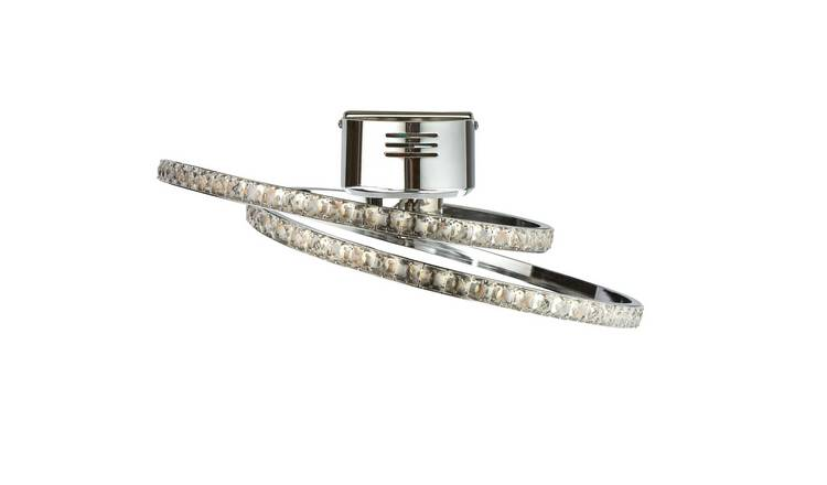 Argos Home Sophia LED Flush to Ceiling Light - Chrome