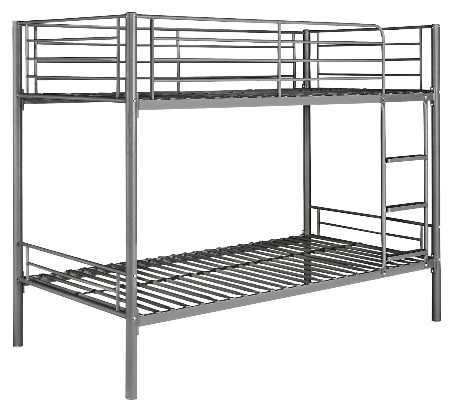 Argos Home Mason Silver Metal Bunk Bed & 2 Kids Mattresses