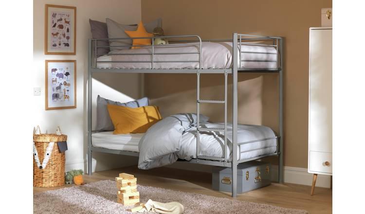 Buy Argos Home Mason Metal Bunk Bed 2 Kids Mattresses Silver Kids Beds Argos