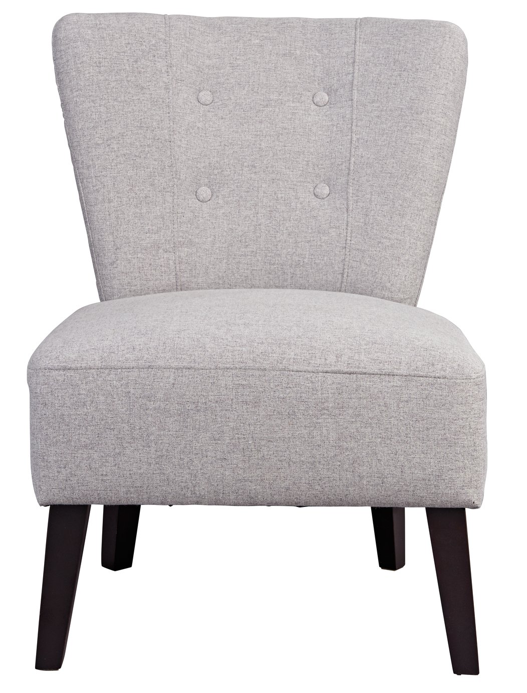 Argos Home Delilah Fabric Cocktail Chair - Light Grey