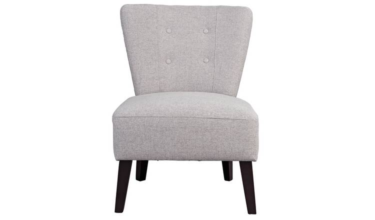 Habitat Delilah Fabric Cocktail Chair - Light Grey