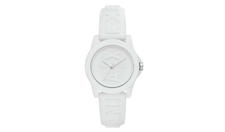 Armani Exchange Ladies White Silicone Strap Watch