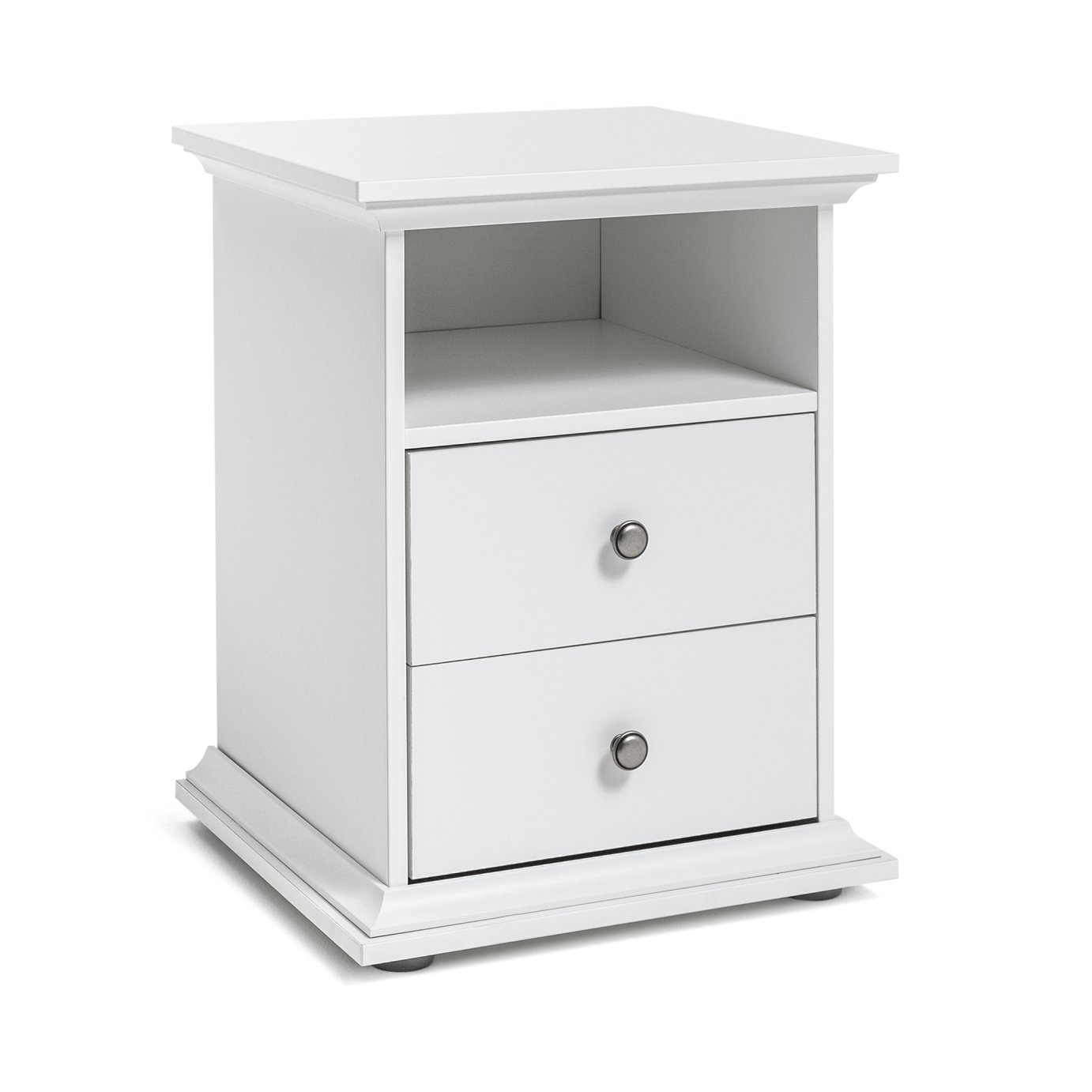 Argos Home Heathland 2 Drawer Bedside Cabinet - White