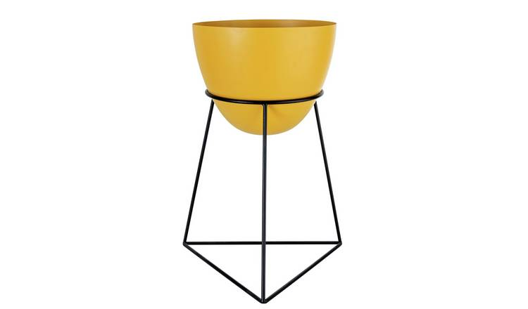 Argos Home Apartment Living Metal Planter - Mustard