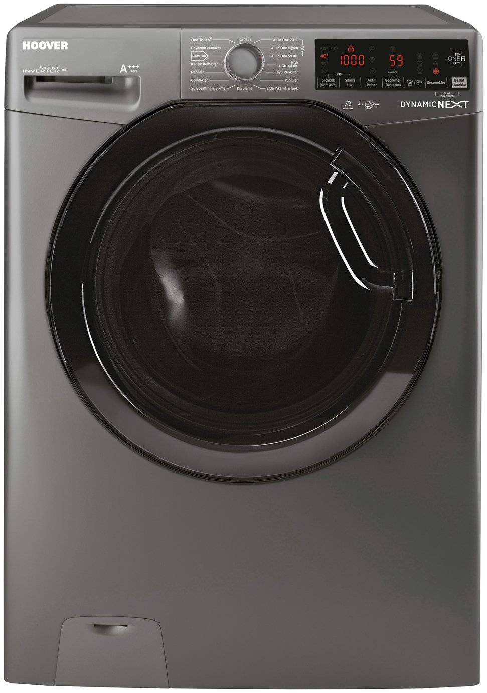 Hoover DWOAD 69HF3G 9KG 1600 Spin Washing Machine - Graphite