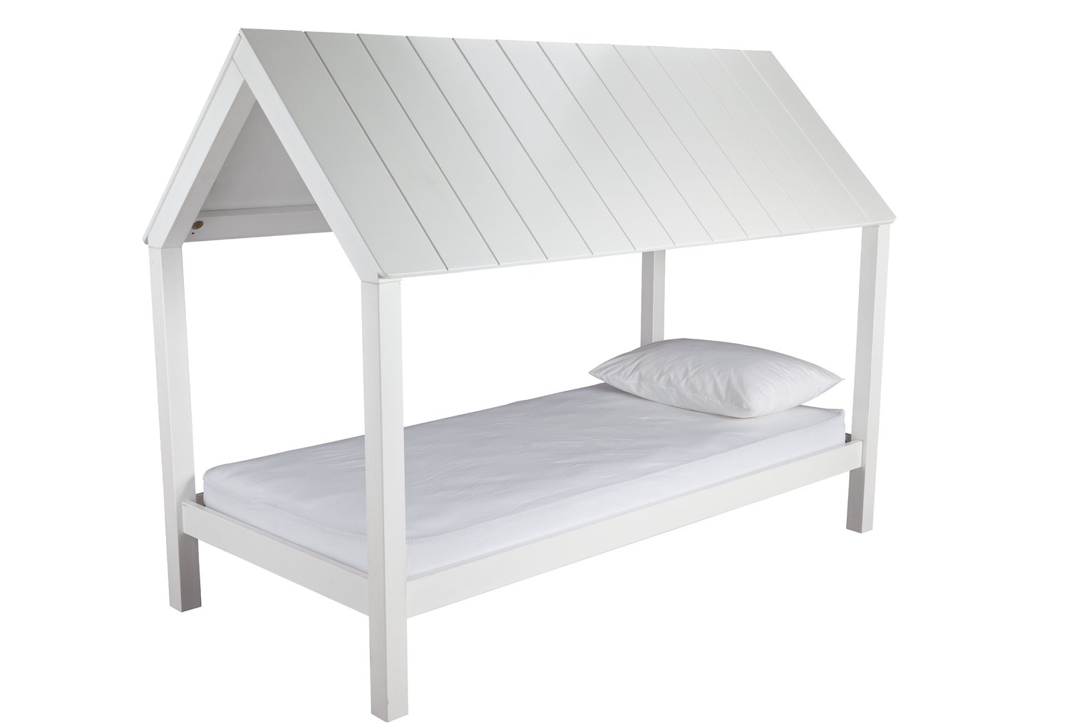 Argos Home Skandi White House Bed Frame