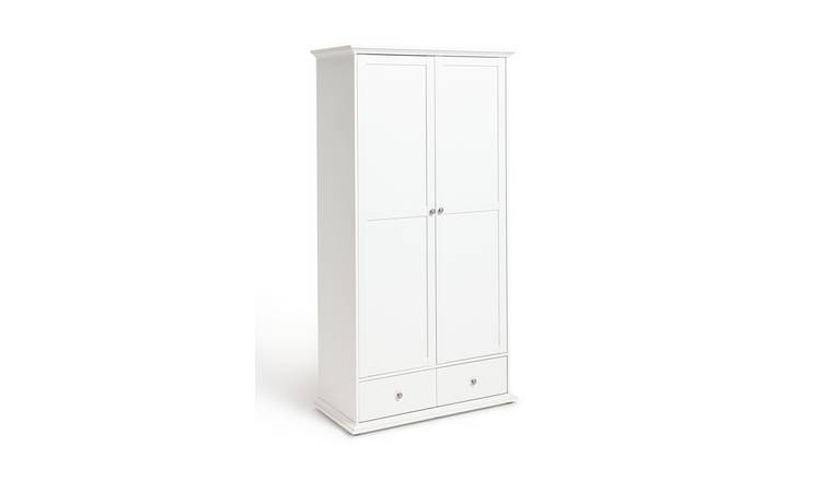 Habitat Heathland 2 Door 2 Drawer Wardrobe - White