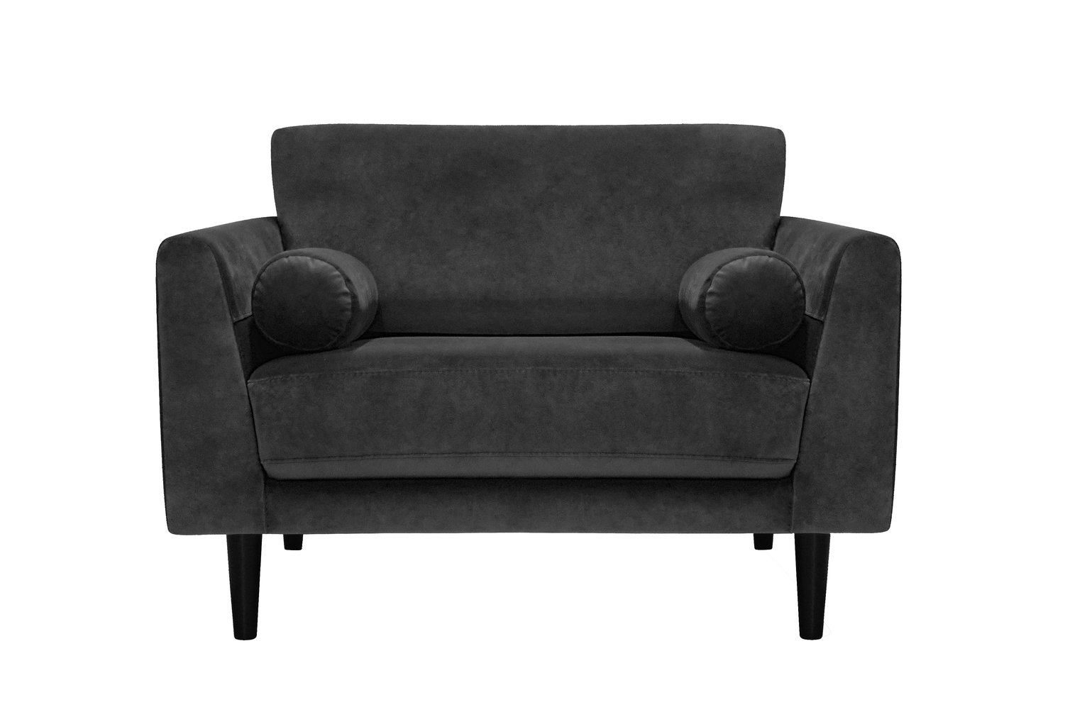 Argos Home Jackson Velvet Cuddle Chair - Charcoal