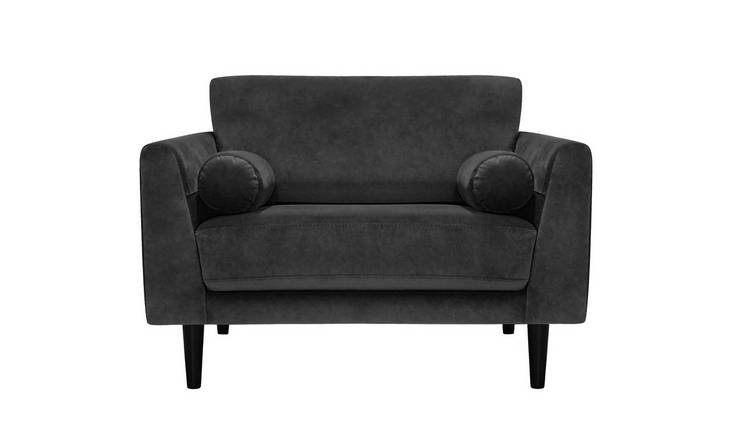 Buy Argos Home Jackson Velvet Cuddle Chair Charcoal Armchairs And Chairs Argos