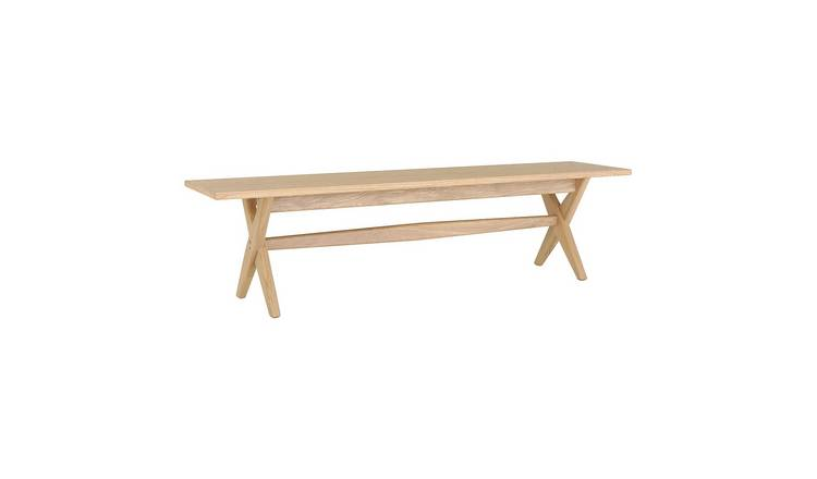 Habitat Austin Solid Wood 3 Seater Dining Bench - Oak