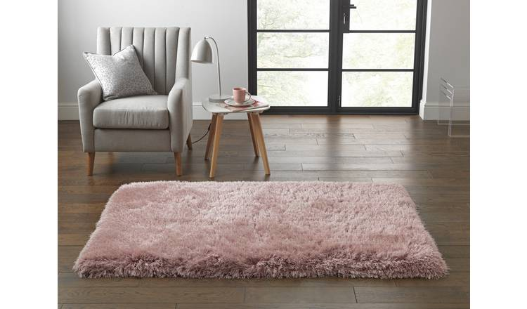 Buy Argos Home Bliss Deep Pile Shaggy Rug 170x110cm Blush | Rugs | Argos