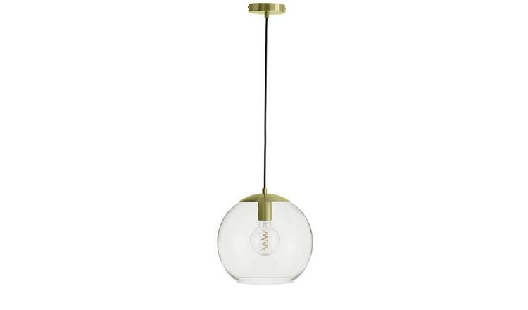 Habitat Coleman Pendant Ceiling Light - Brass