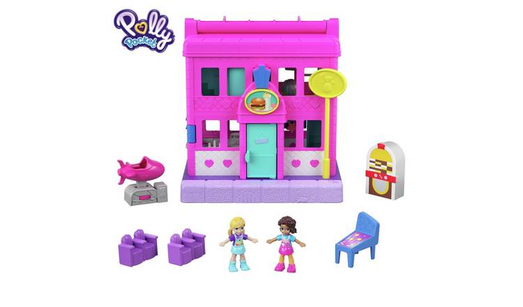 Polly Pocket Pollyville Peanuts Pit Stop Playset
