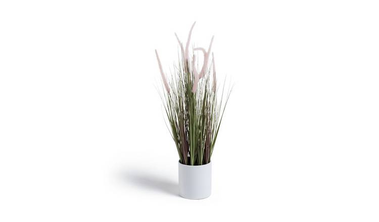 Argos Home Highlands Large Artificial Grass Plant - Pink