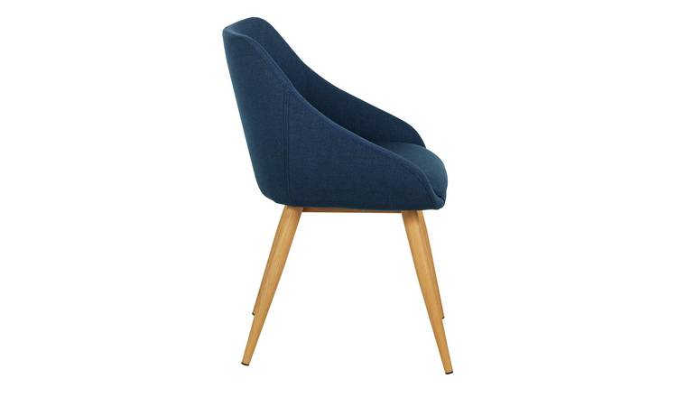 Buy Argos Home Skandi Pair Of Fabric Dining Chairs Blue Dining Chairs Argos