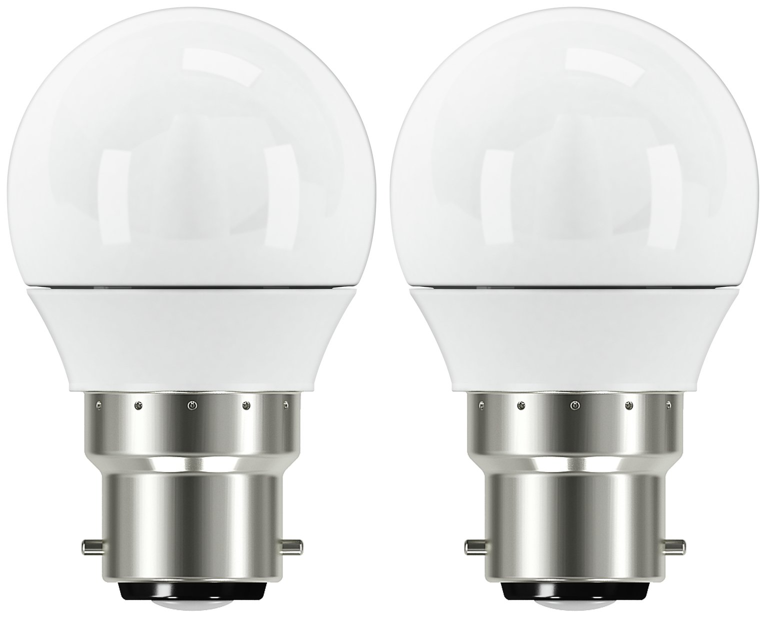 Argos Home 5W LED Mini Globe BC Light Bulb - 2 Pack