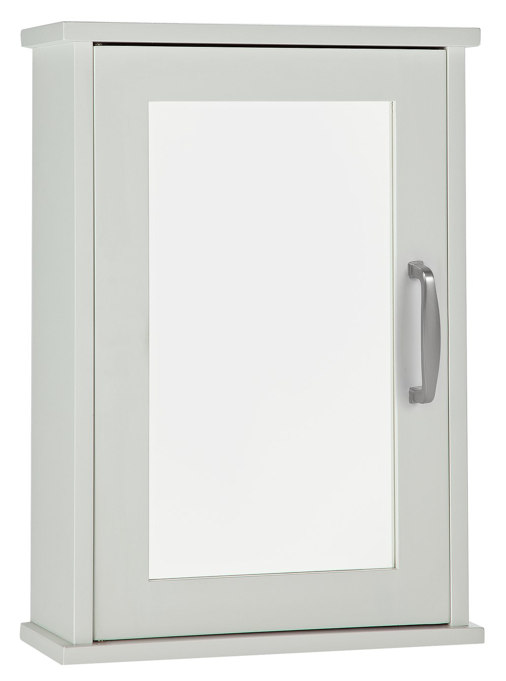 Argos Home Tongue and Groove Single Mirrored Cabinet - White