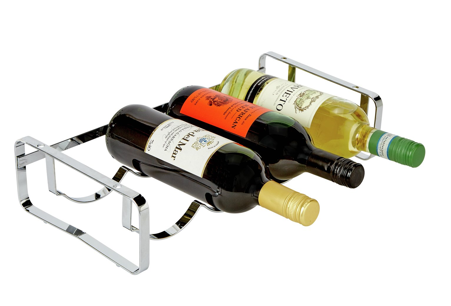Argos Home Stacking Wine Rack - Silver
