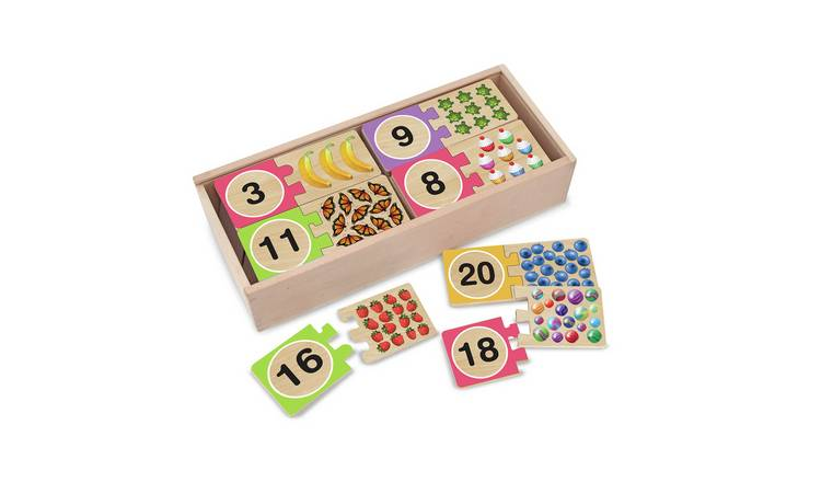 Melissa & Doug Self Correcting Wooden Number Puzzles