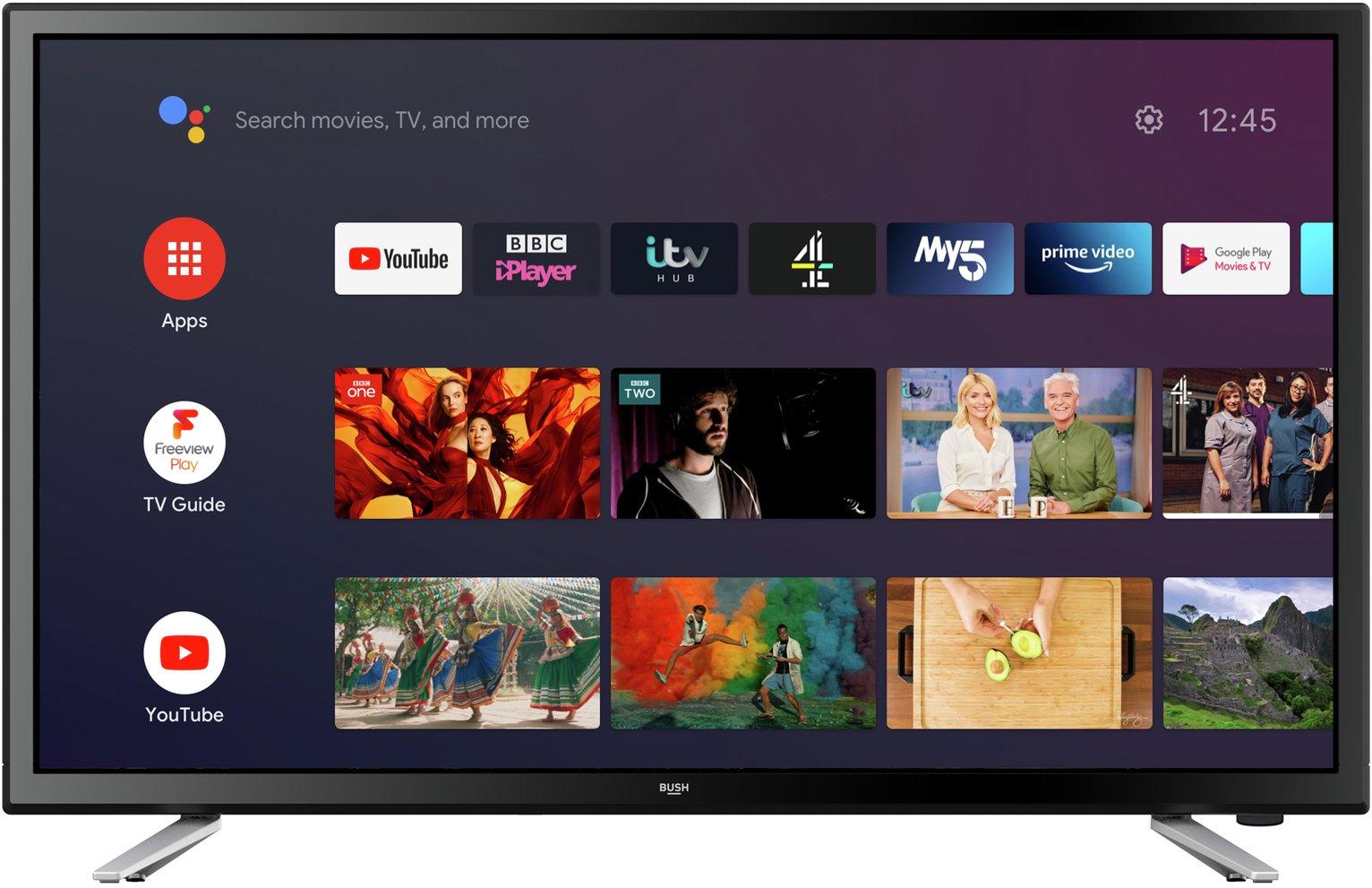 Bush 24 inch HA24H4212LEKB Smart HD Ready LED Android TV