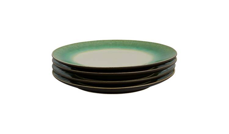 Habitat Sintra Set Of 4 Dinner Plates - Green