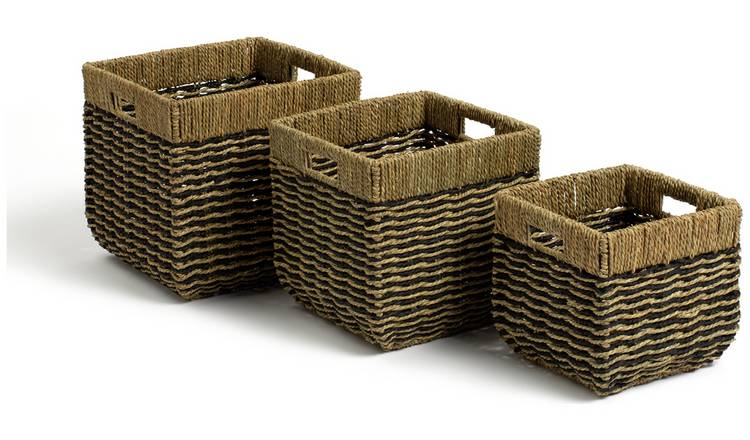 Habitat Pack of 3 Rectangular Baskets