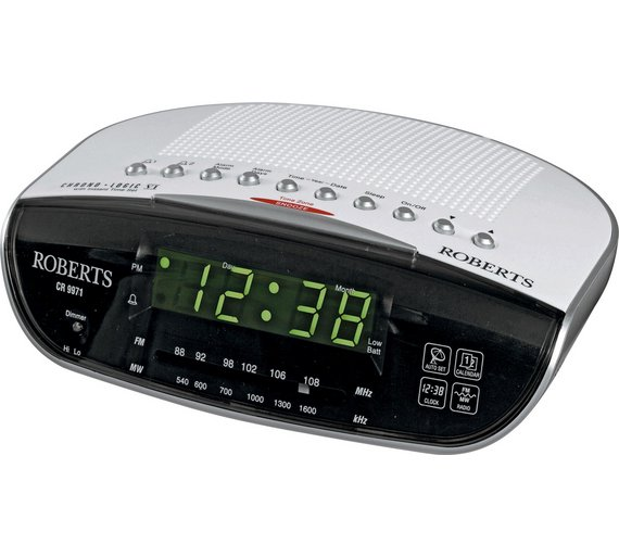 buy roberts chronologic vi dual alarm clock radio white at yo. Black Bedroom Furniture Sets. Home Design Ideas