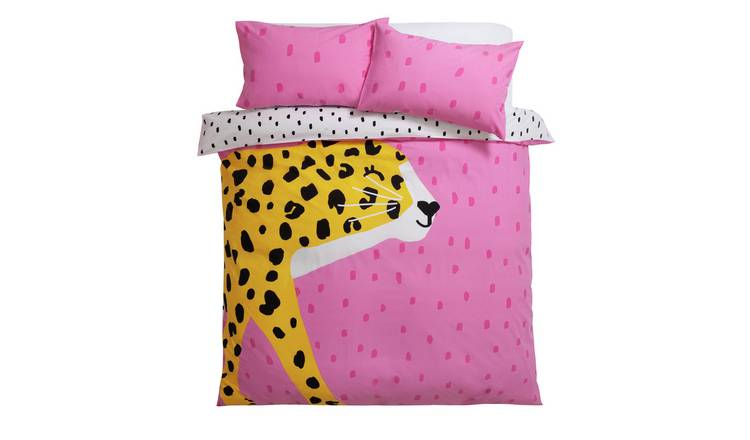 Habitat Leopard Print Reversible Bedding Set - Single