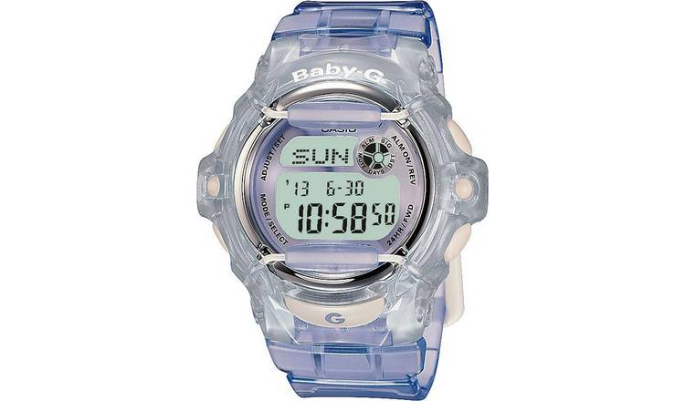 84d5fc982776 Buy Casio Baby-G Ladies  Lilac LCD Watch