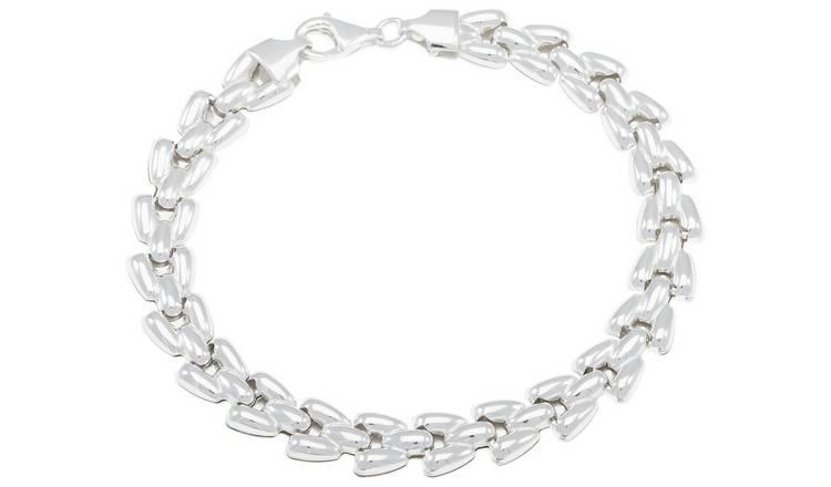 a1b62d884ebc8 Buy Revere Sterling Silver Flat Link Bracelet | Womens bracelets and  bangles | Argos